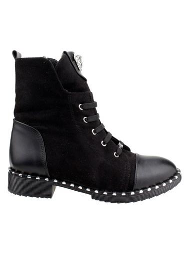 Ayakland Ayakland 2060-2015 Süet Günlük Termo Taban Bayan Bot Ayakkabı Siyah